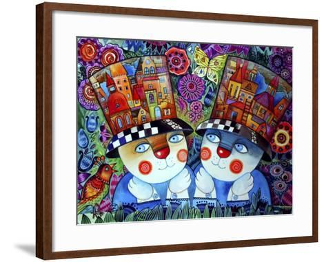 Twins-Oxana Zaika-Framed Art Print