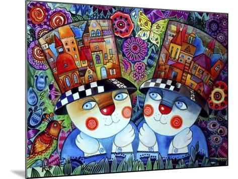 Twins-Oxana Zaika-Mounted Giclee Print