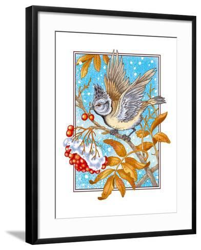 ?rested Tit-Olga Kovaleva-Framed Art Print