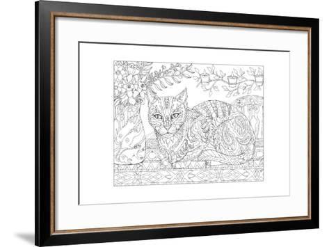 Cat and Mice - Cat Me If You Can-Pamela J. Smart-Framed Art Print
