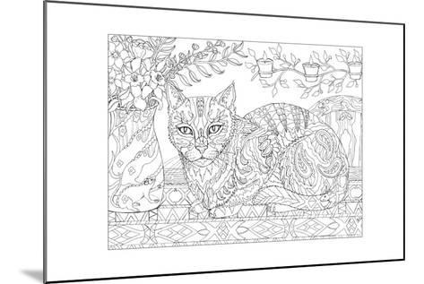 Cat and Mice - Cat Me If You Can-Pamela J. Smart-Mounted Giclee Print