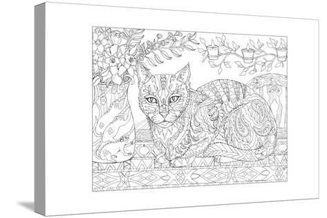 Cat and Mice - Cat Me If You Can-Pamela J. Smart-Stretched Canvas Print