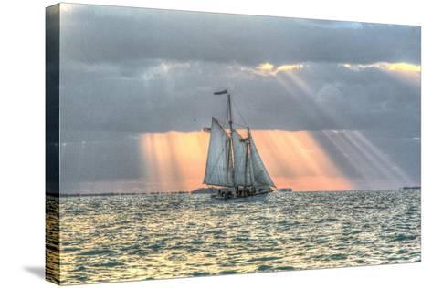 Key West Sunset XV-Robert Goldwitz-Stretched Canvas Print