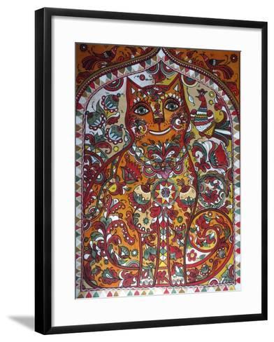 Russian Red Cat-Oxana Zaika-Framed Art Print