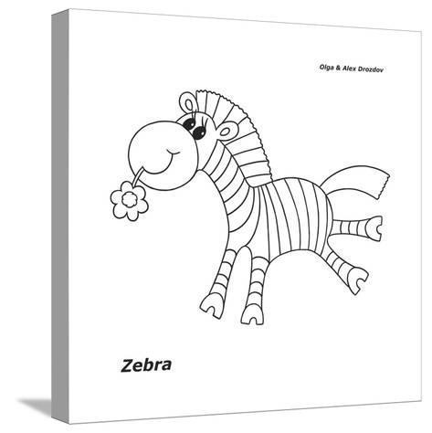 Zebra-Olga And Alexey Drozdov-Stretched Canvas Print