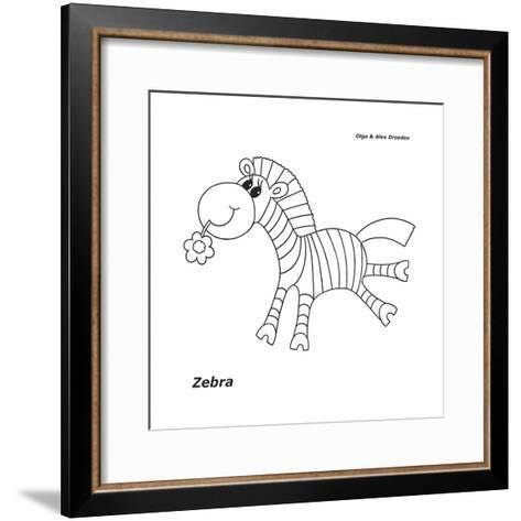 Zebra-Olga And Alexey Drozdov-Framed Art Print