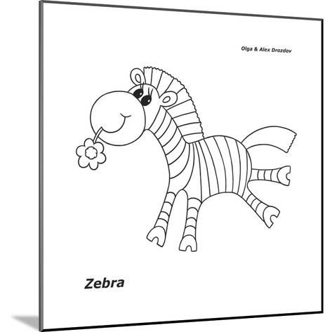 Zebra-Olga And Alexey Drozdov-Mounted Giclee Print
