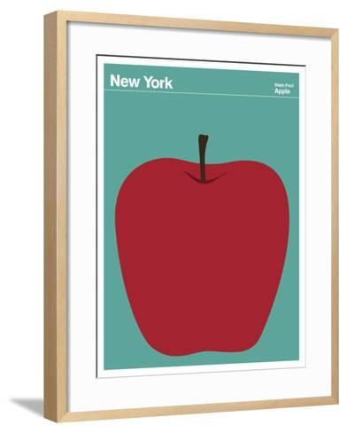 State Poster NY New York--Framed Art Print