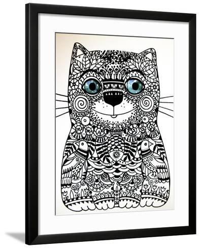 Happy Cat-Oxana Zaika-Framed Art Print