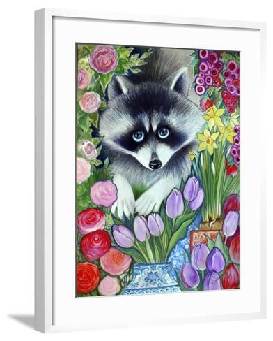 Raccoon-Oxana Zaika-Framed Art Print