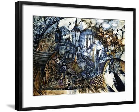 Indigo Fish-Oxana Zaika-Framed Art Print