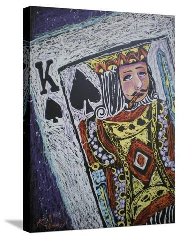 King Spades 001-Rock Demarco-Stretched Canvas Print