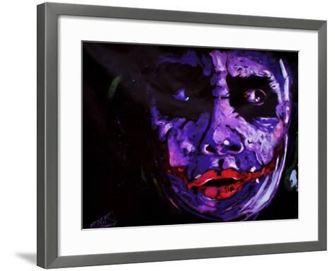 Heath Ledger 001-Rock Demarco-Framed Art Print