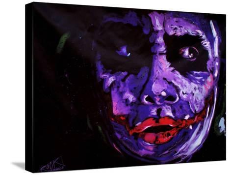 Heath Ledger 001-Rock Demarco-Stretched Canvas Print