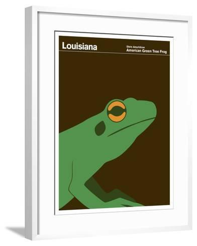 State Poster LA Louisiana--Framed Art Print