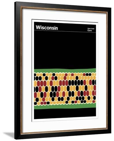 State Poster WI Wisconsin--Framed Art Print
