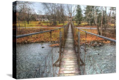 Footbridge-Robert Goldwitz-Stretched Canvas Print