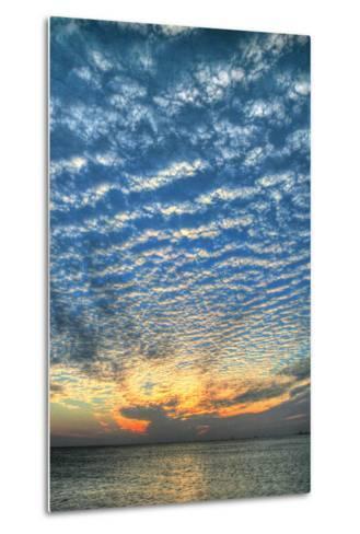 Key West Blue Sunset Vertical-Robert Goldwitz-Metal Print