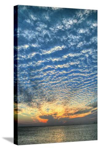 Key West Blue Sunset Vertical-Robert Goldwitz-Stretched Canvas Print