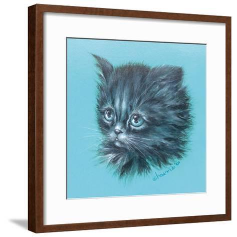 Black Kitten - 23A-Peggy Harris-Framed Art Print