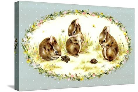 Bunny Tales-Peggy Harris-Stretched Canvas Print