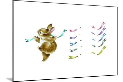 Spring Fling - Dancing Bunny-Peggy Harris-Mounted Giclee Print