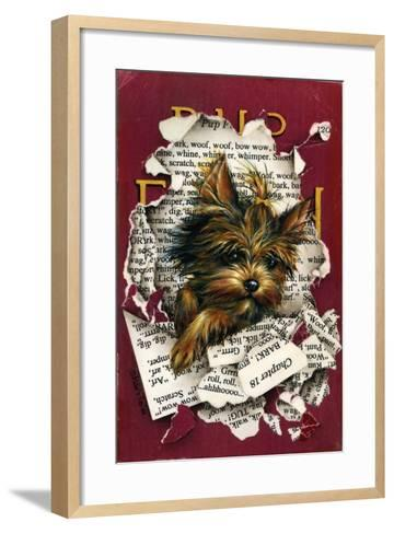Pup Fiction-Peggy Harris-Framed Art Print