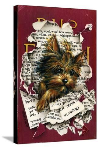 Pup Fiction-Peggy Harris-Stretched Canvas Print