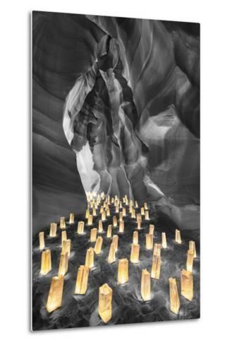Candle Canyon BW - Pop-Moises Levy-Metal Print