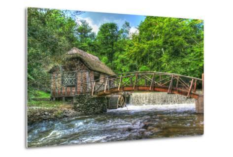 Mill House and Stream-Robert Goldwitz-Metal Print
