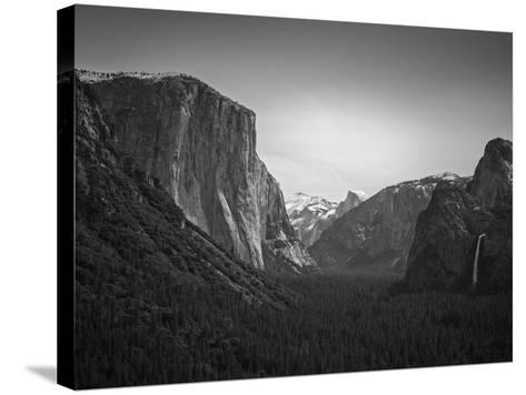 Tunnel View BW 2-Moises Levy-Stretched Canvas Print