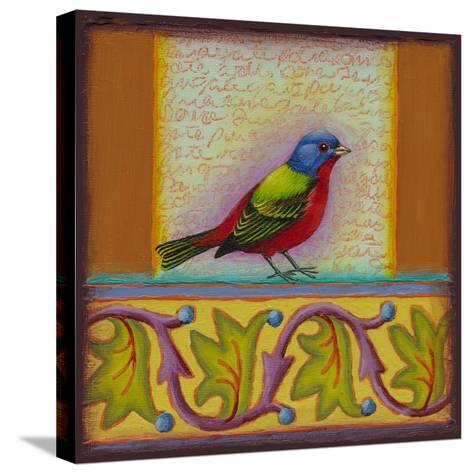 Painted Bunting-Rachel Paxton-Stretched Canvas Print