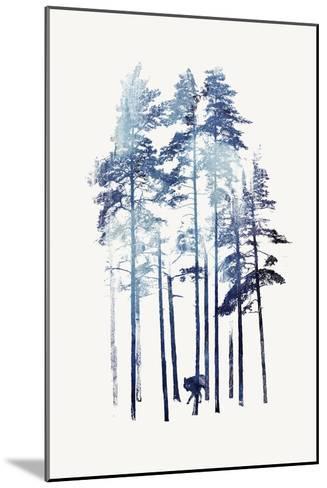 Winter Wolf-Robert Farkas-Mounted Giclee Print