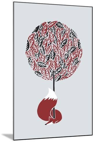 Cherry Tree Fox-Robert Farkas-Mounted Giclee Print