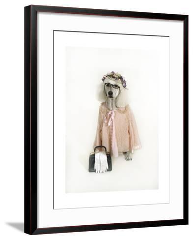 Poodle Dressed as Older Woman-Nora Hernandez-Framed Art Print
