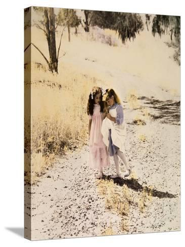 Two Girls on Path-Nora Hernandez-Stretched Canvas Print