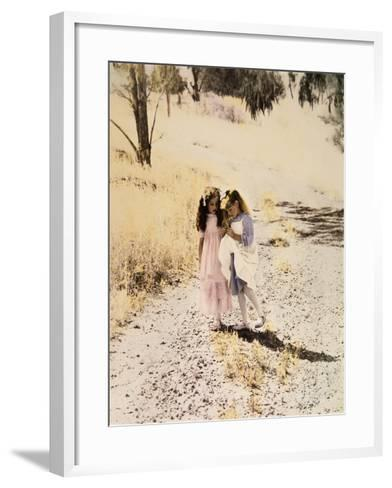 Two Girls on Path-Nora Hernandez-Framed Art Print