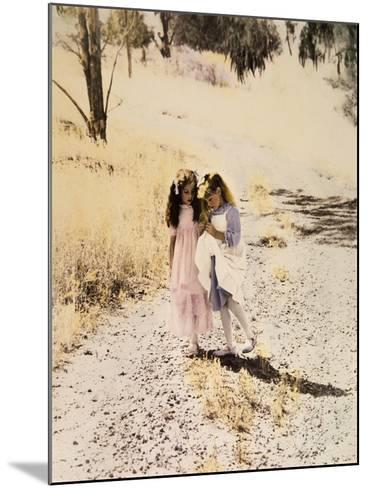 Two Girls on Path-Nora Hernandez-Mounted Giclee Print