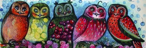 Owls-Oxana Zaika-Stretched Canvas Print