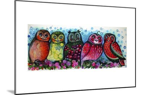 Owls-Oxana Zaika-Mounted Giclee Print