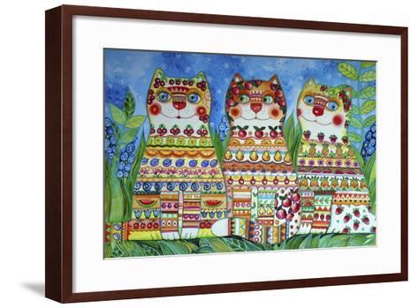 Magic Happy Cats!-Oxana Zaika-Framed Art Print