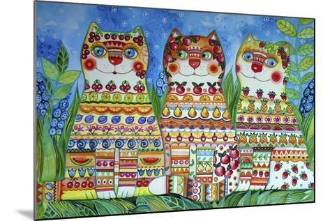 Magic Happy Cats!-Oxana Zaika-Mounted Giclee Print