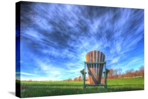 Adirondack Chair Horizontal-Robert Goldwitz-Stretched Canvas Print