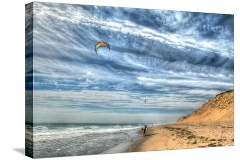 Cape Cod Kite Boarders-Robert Goldwitz-Stretched Canvas Print