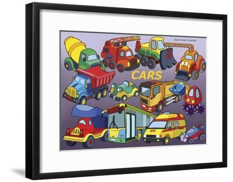 Cars-Olga And Alexey Drozdov-Framed Art Print