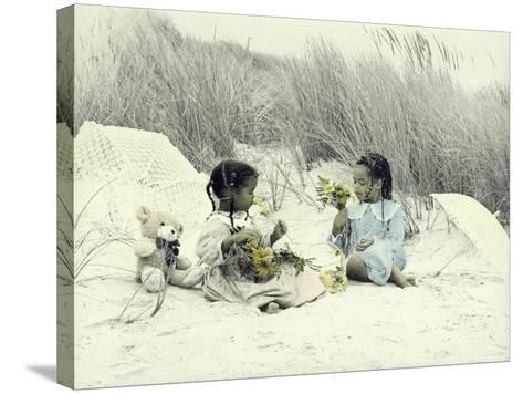 A Day at the Beach 2-Nora Hernandez-Stretched Canvas Print