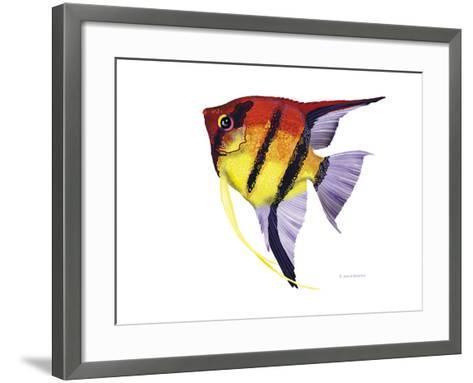 Fish 4 Red-Yellow-Olga And Alexey Drozdov-Framed Art Print