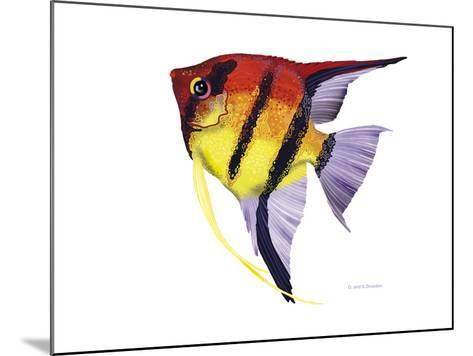 Fish 4 Red-Yellow-Olga And Alexey Drozdov-Mounted Giclee Print