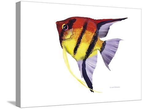 Fish 4 Red-Yellow-Olga And Alexey Drozdov-Stretched Canvas Print