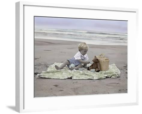 Boy on Beach-Nora Hernandez-Framed Art Print